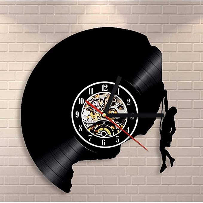 TIANZly Reloj de Pared de Vinilo Escalada 3D de Arte Reloj de ...