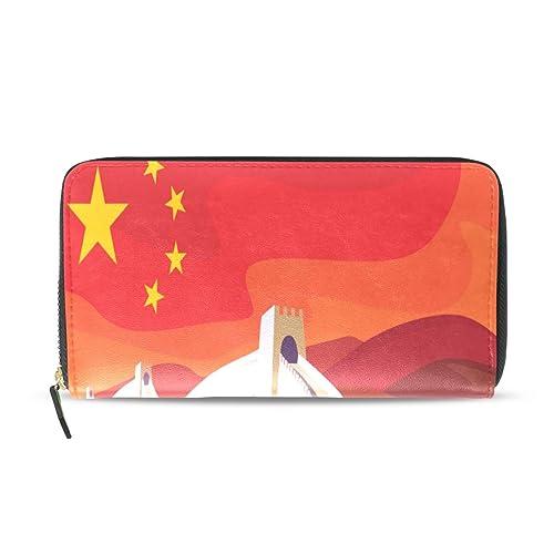 La Gran Muralla historia China Pasaporte largo Embrague ...