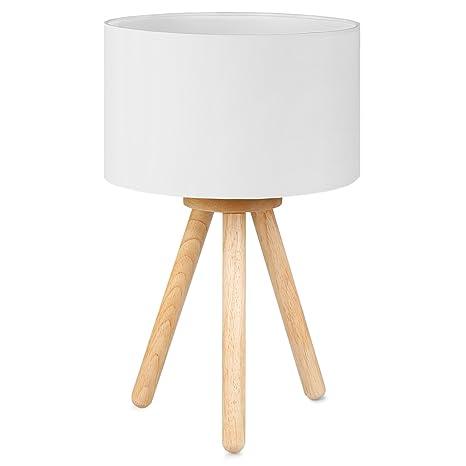 Tomons Led Nachttischlampe Aus Holz Minimalistischer Stil Geeignet Fur Schlafzimmer Mit Warmer Gemutlicher Atmosphare 4 W Led Im Lieferumfang