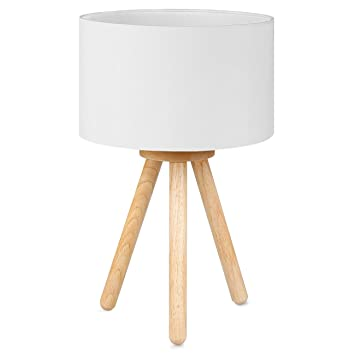 Tomons Nachttischlampe, Minimalistischer Stil, Sanftes Licht, Lampenschirm  Aus Polyester, Höhe 39 Cm