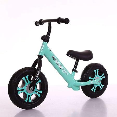 Bicicleta para Niños, Sin Pedal, Andar En Bicicleta Bicicleta para Niños Pequeños para Niños Manillar Y Asiento Ajustables, Entrenamiento para Niños Bicicleta,Blue: Amazon.es: Hogar
