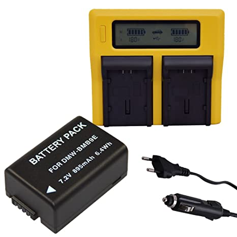 PATONA DUAL LCD Cargador + Bateria Panasonic Lumix DMC-BMB9 ...