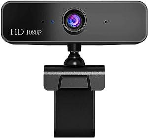 HD 1080P Webcam with Microphone, Manual Focus Webcam, HD Computer Camera Web Camera PC Webcam for Video Calling Recording Conferencing 2 Megapixel