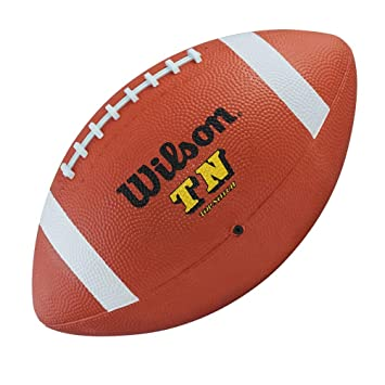 1468b0384e WILSON top notch official size rubber american football  brown   Amazon.es   Deportes y aire libre