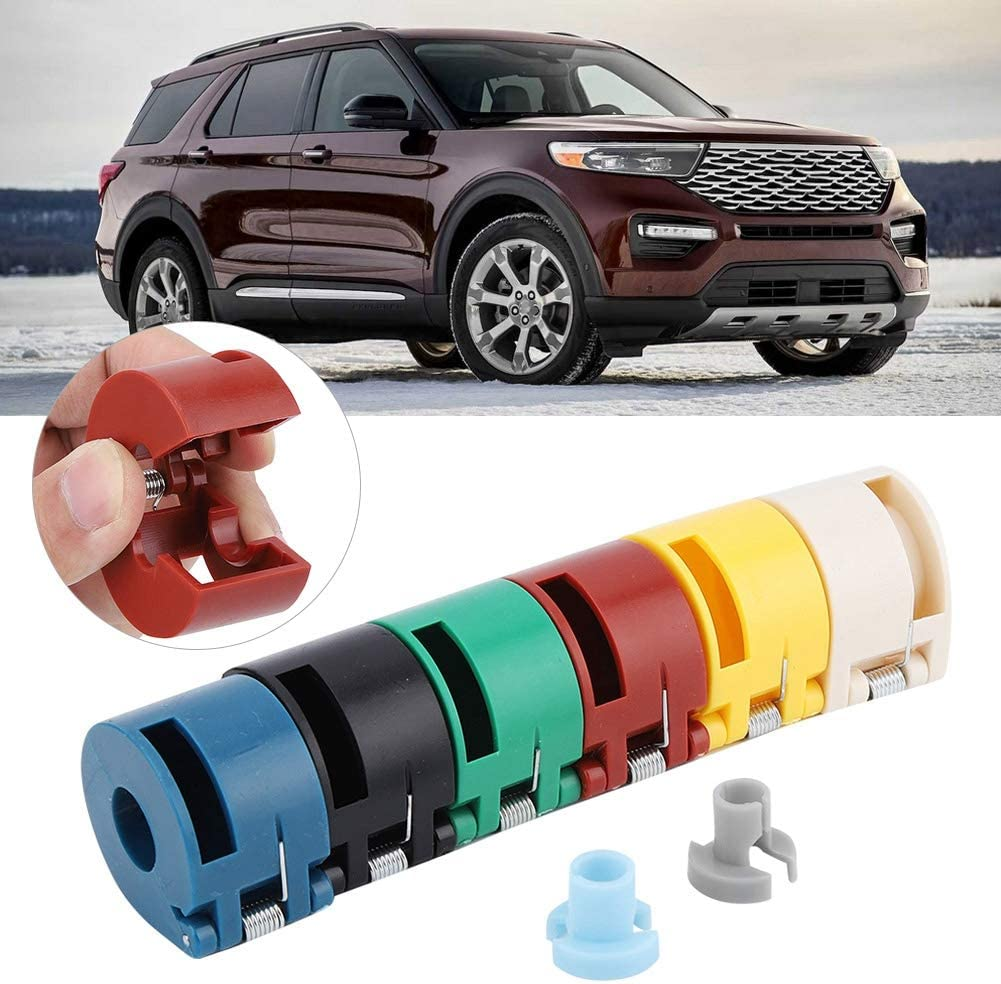 Aramox 8 Pcs Auto Vehicle Fuel Line Quick Disconnect Coupling Tool Disconnect Spring Lock