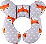 KAKIBLIN Baby Travel Pillow, Infant Head and Neck Support Pillow for