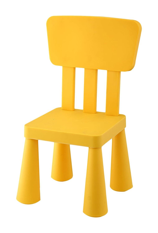 Silla Infantil de plástico con respaldo y asiento cuadrado, Roja ...