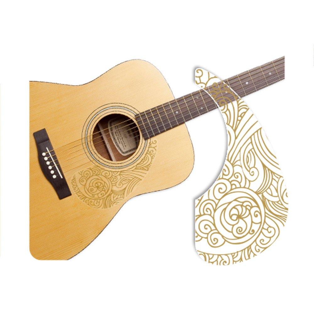 Healingshield Premium Acoustic Guitar Pickguard Basic Type Wave-Gold