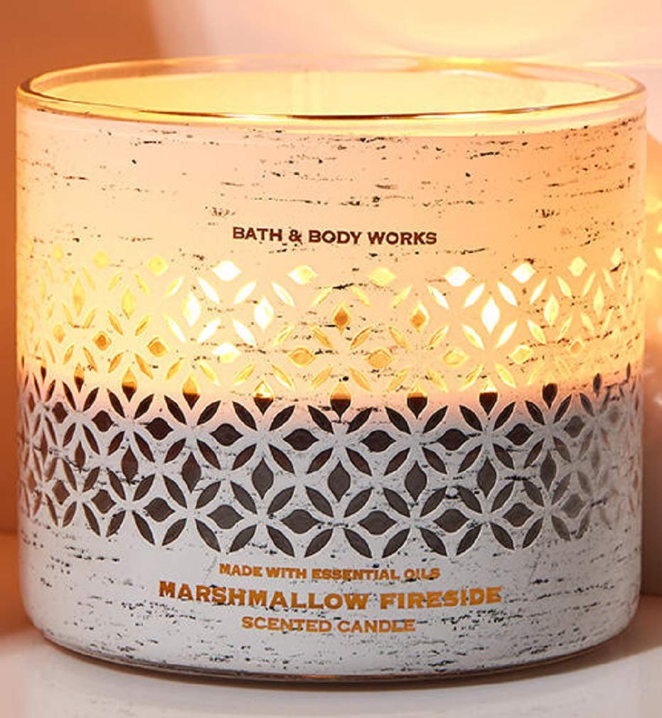 Bath & Body Works 3-Wick Luminary Autumn Scented Candles (Marshmallow Fireside)