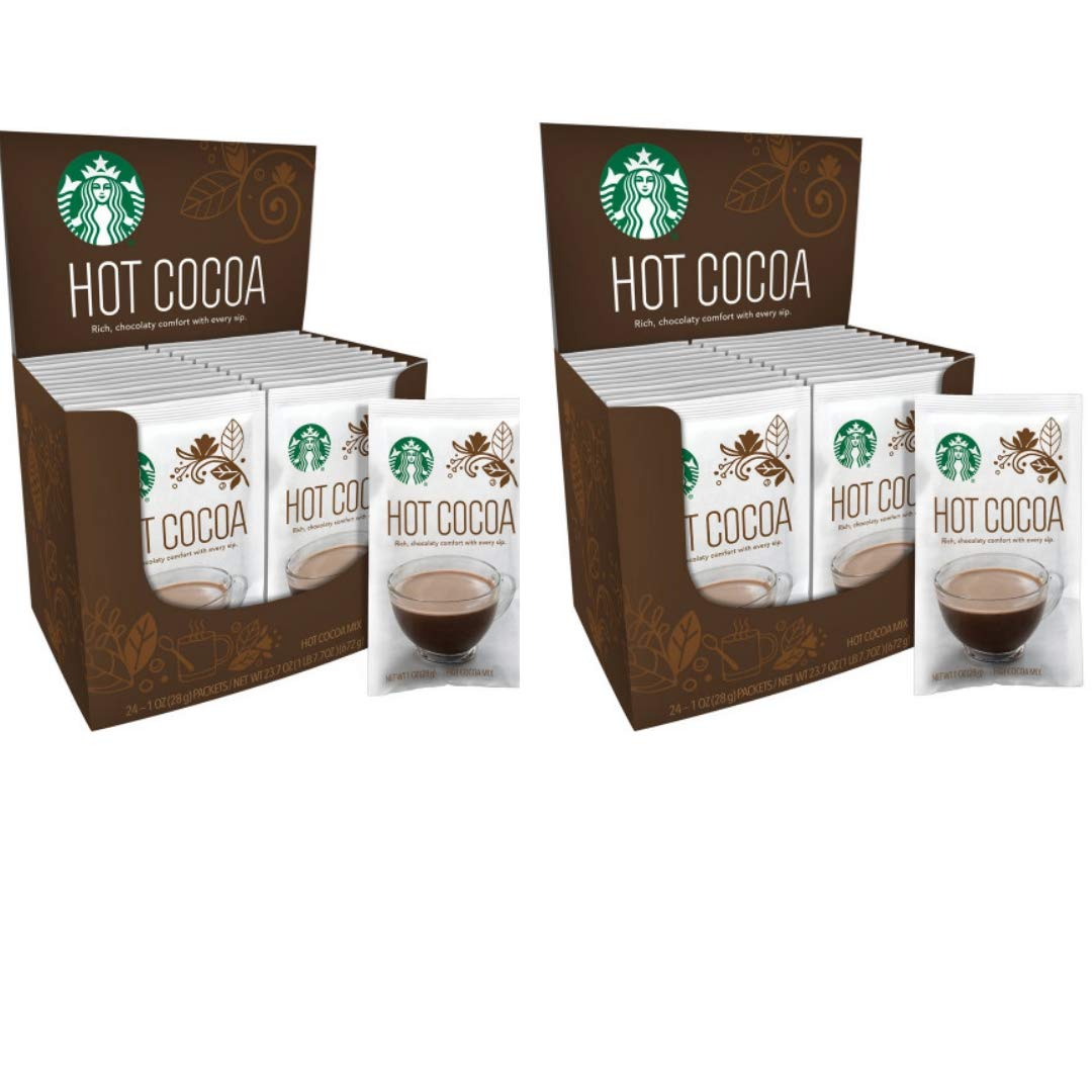 Starbucks Hot Cocoa, 11099790, 2-24 Ct Boxes, 1 oz packets (48 Total Packets) by Hot Cocoa