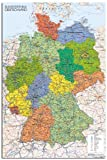 Germany Map Wall Chart Poster - 91.5 x 61cms (36 x 24 Inches)