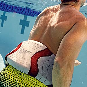 Speedo Hydro Resistant Jog Belt Swim Training Aid, Silver/Red