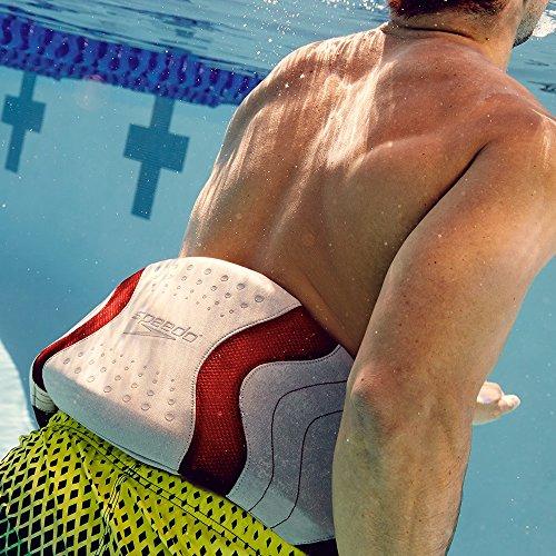 Speedo Hydro Resistant Jog Belt Swim Training Aid, Silver/Red, One Size