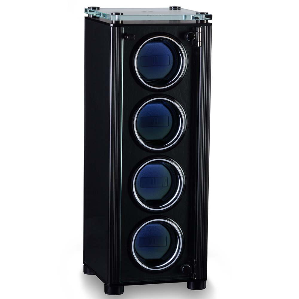 JUVO A4 Quad Automatic Watch Winder For Men's Automatic Watches Black