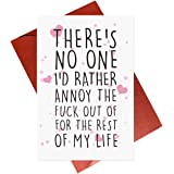 Funny Anniversary Cards For Him Her Husband Wife Boyfriend Girlfriend