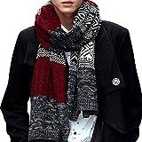 Fashion Story Man Winter Warm Scarf Soft Elegant Long Fashion Scarves Red