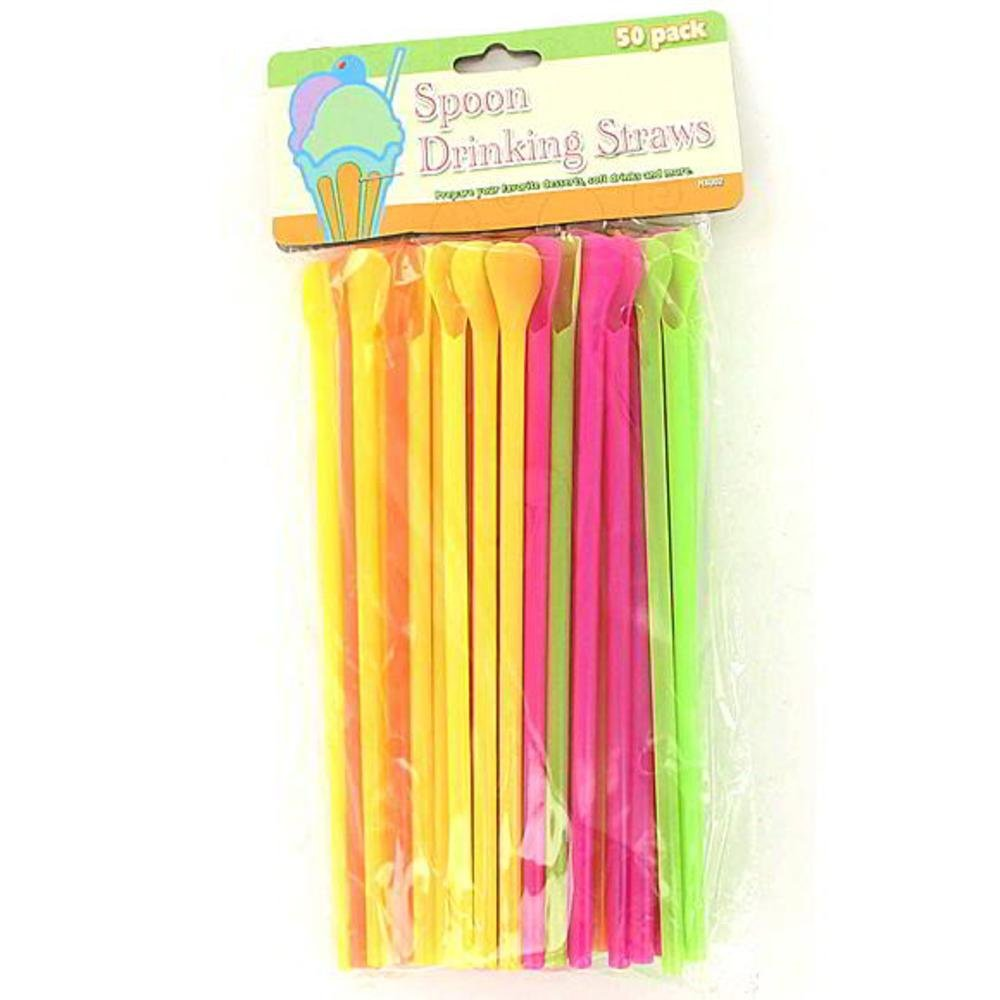 24 Packs of 50 Spoon Drinking Straws