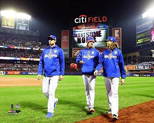 "Steven Matz, Noah Syndergaard, & Jacob deGrom New York Mets 2015 World Series Photo (Size: 8"" x 10"")"
