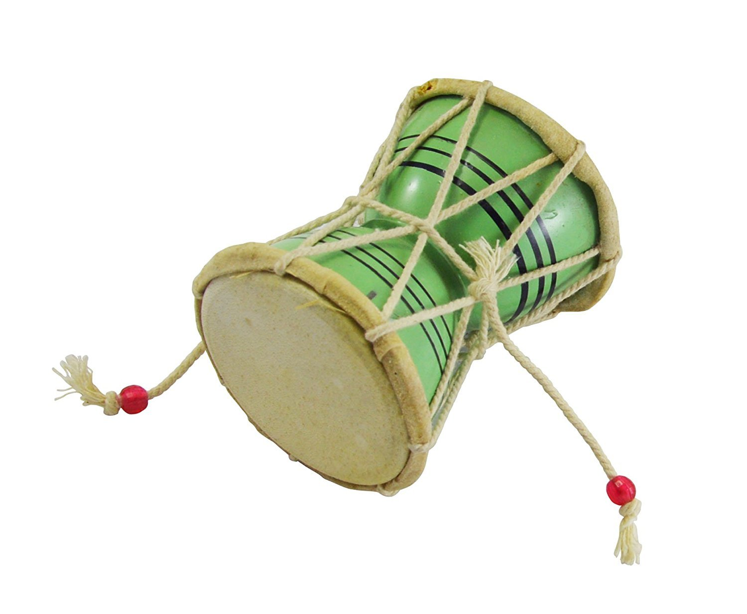 Green Color Small Size Wooden Damroo For Home Office Temple