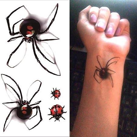 ljmljm 5 Piezas Impermeable Tatuaje Pegatina 3D incisión Herida ...
