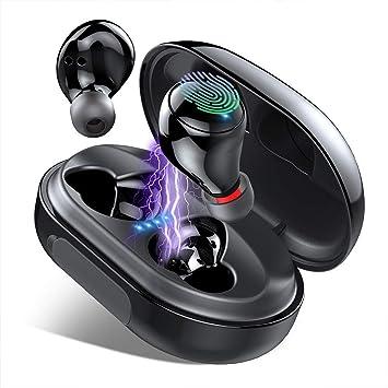 iporachx Auriculares inalámbricos Bluetooth 5.0 [150 h estéreo de alta fidelidad] con reducción de ruido y micrófono para iOS y Android: Amazon.es: Electrónica