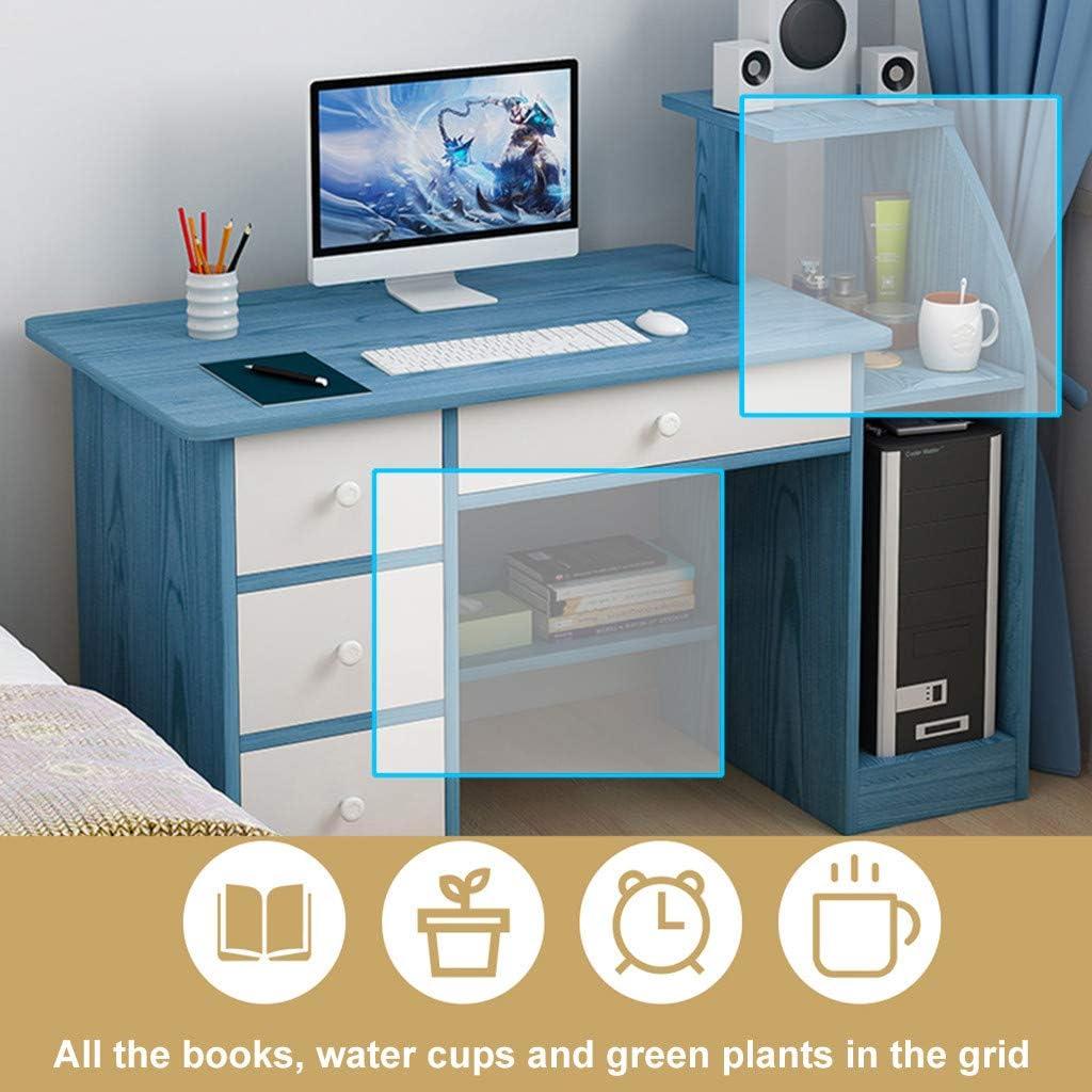 Beige Shudage Computer Desk Home Office Desks With Shelf Student Study Desktop Desk Laptop Table Modern Pc Workstation Dormitory Study Desk With 4 Bottom Storage Shelves And 4 Drawer Furniture Home Office Furniture