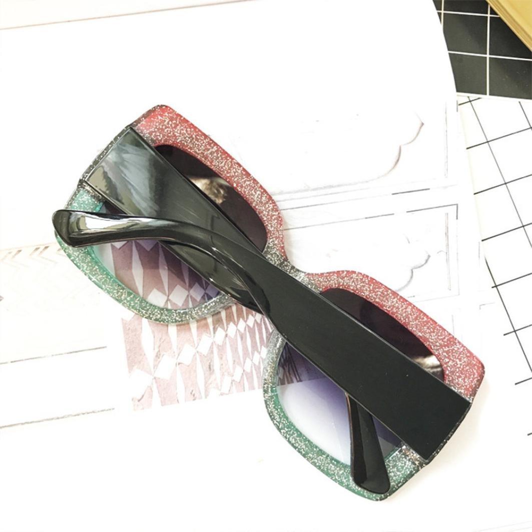 Mujer Moda Marco grande Gafas de sol cuadradas Gafas de sol Marca Sunglass  clásica   28fe425e352f