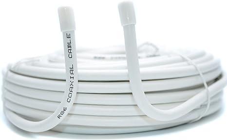 Generic - Cable coaxial coaxial para Antena coaxial RG6 S (75 Ohm ...
