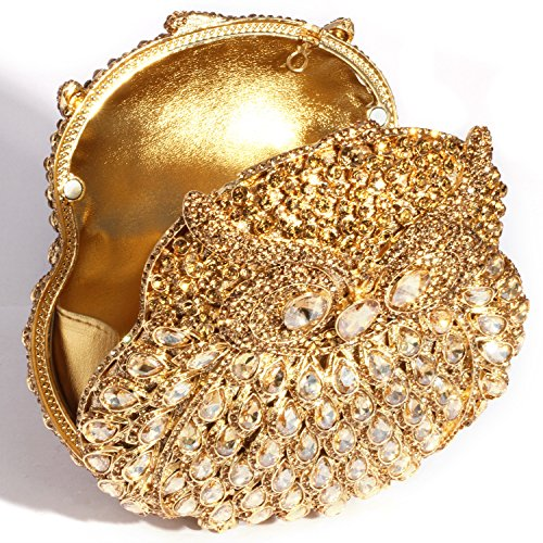 Clutch Women Cylindrical Shape Evening Crystal Digabi Gold Bags qXZUwRq1