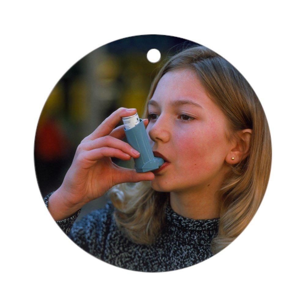 CafePress/ /Rou/ /Vacances de No/ël rond Ornement /adolescent /à laide dun A/érosol inhalateur pour lasthme/