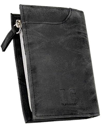 13feda6a83a6 Amazon   ヴィンテージ調 カードスライダー付 縦型 短財布 [ LG-003 ...