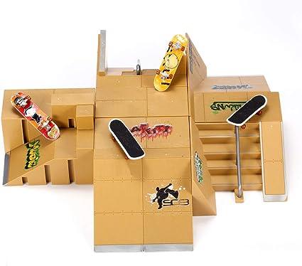 11pcs Skate Park Kit Ramp For Tech Deck Finger Board Ultimate Sport Training NEW