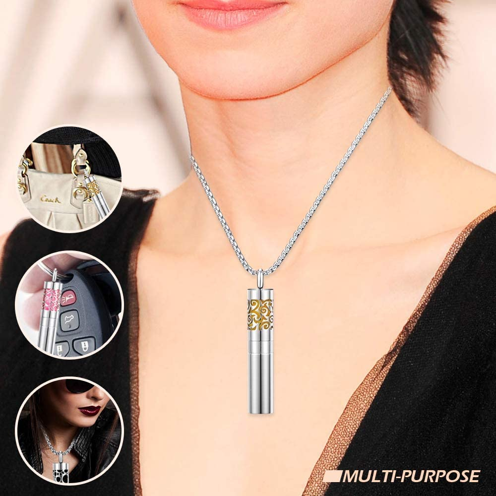 Colgante de Medall/ón con 8 Almohadillas de Recarga de Color Libershine Difusor de Aceites Esenciales Collares Collar Collar Difusor de Aceite de Aromaterapia Collar con Colgante Difusor