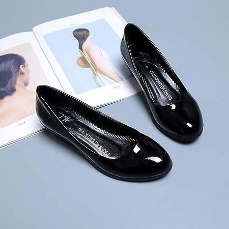 Btruely Zapatos de Mujer❤ Zapatos Moda Punta Redonda Zapatos cuñas Mocasines Zapatos Casuales Solo Zapatos de Cuero Zapatos Planos del Dedo: Amazon.es: ...