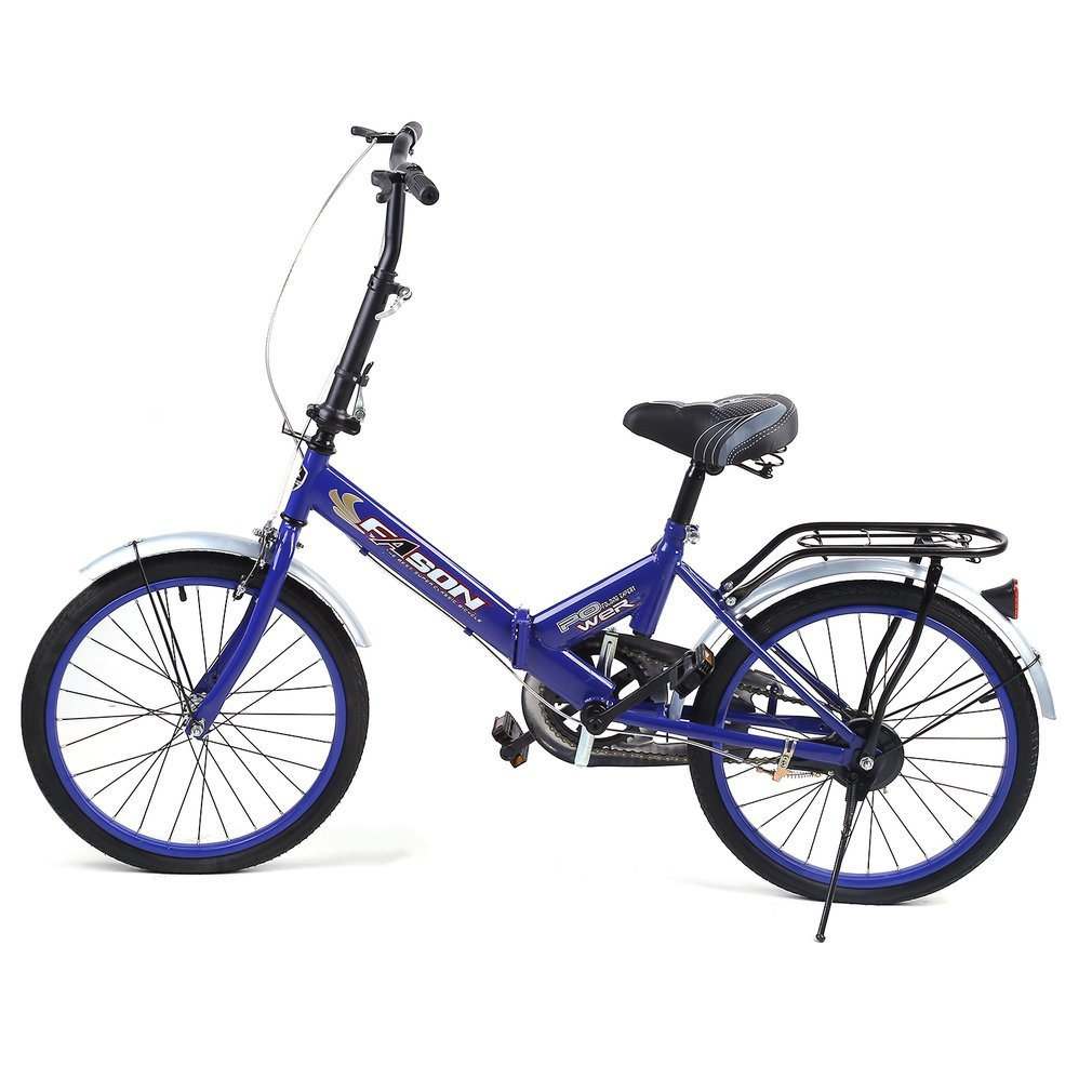 Water-chestnut 20 Inches Single Speed Folding Bike Bike Subway Transit Vehicles Road Bicycle Outdoor Sports Exercise Bike No Traffic Jam by Water-chestnut (Image #1)