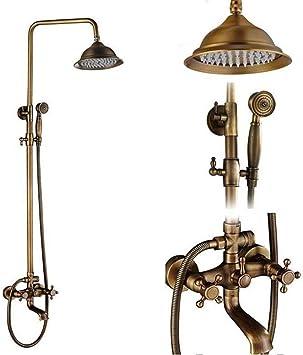 ZKYXZG Set de ducha Conjunto de grifos de ducha antiguos de latón ...