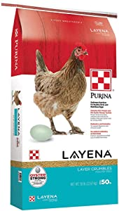 Purina Layena | Nutritionally Complete Layer Hen Feed Crumbles | 50 Pound (50 lb) Bag