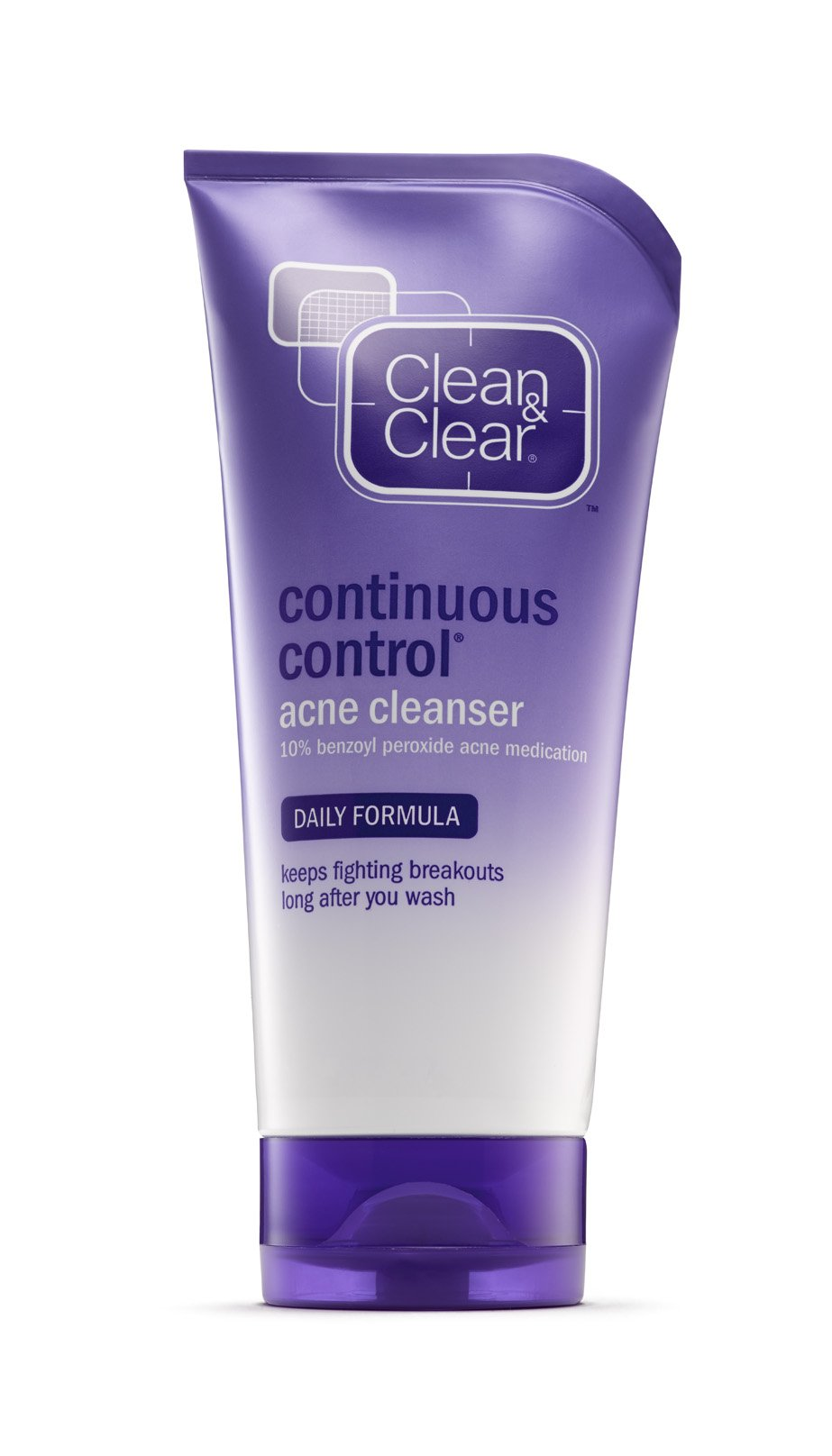 Clean & Clear Continuous Control Acne Cleanser, 5-Ounce Tubes (Pack of 4)