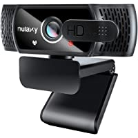 Nulaxy C900 Webcam with Microphone & Privacy Cover, 1080P HD Streaming USB Computer Webcam, Webcam [Plug and Play] for…