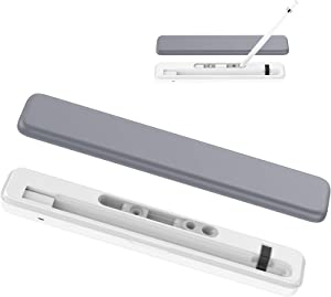 G'CING Apple/iPad Pencil Wireless Charging Case Holder Pencil Stand, Pencil Carrying Case Holder Hard-Shell Storage Box for Apple/iPad Pencil 1st Generation, Apple Pencil Charger Adapter