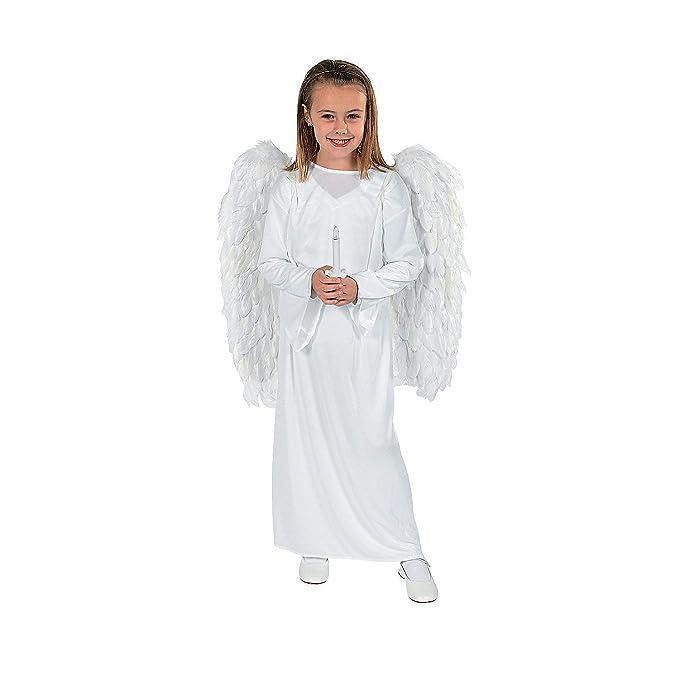 Amazon.com: Disfraz de ángel con alas & Vela – Niño pequeño ...