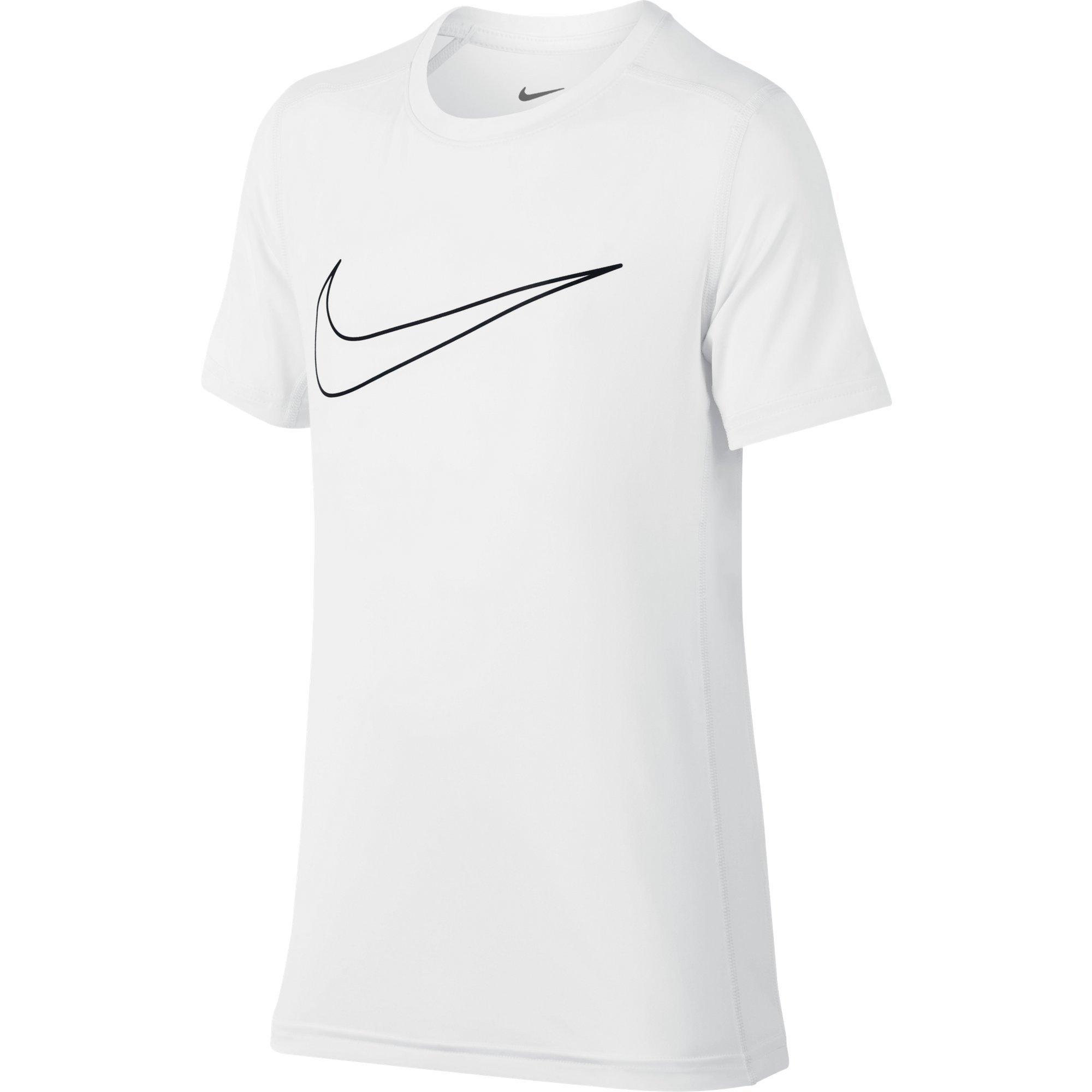 NIKE Boys' Short-Sleeve Training Shirt, White, X-Large