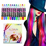 Buluri Hair Chalk Markers Non-Toxic 12 Colors Natural Hair Chalk...
