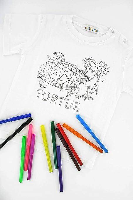 Maglietta Da Colorare Idea Regalo Per Bambini Disegno Con