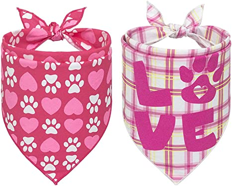 Collar Bandana Rose Pet Scarf Girly Dog Bandana Pet Bandana Dog Scarf Pet Accessories Preppy Pet Scarf