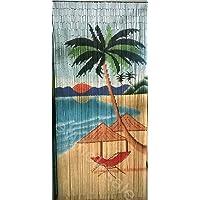 Palm Tree Bamboo Curtain Blinds Door Fly Screen Room Divider Handmade 90 Strand
