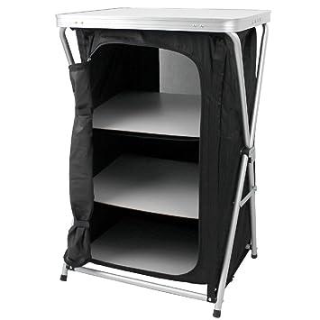 Armario plegable para camping, 3 estantes, con estructura fija de ...