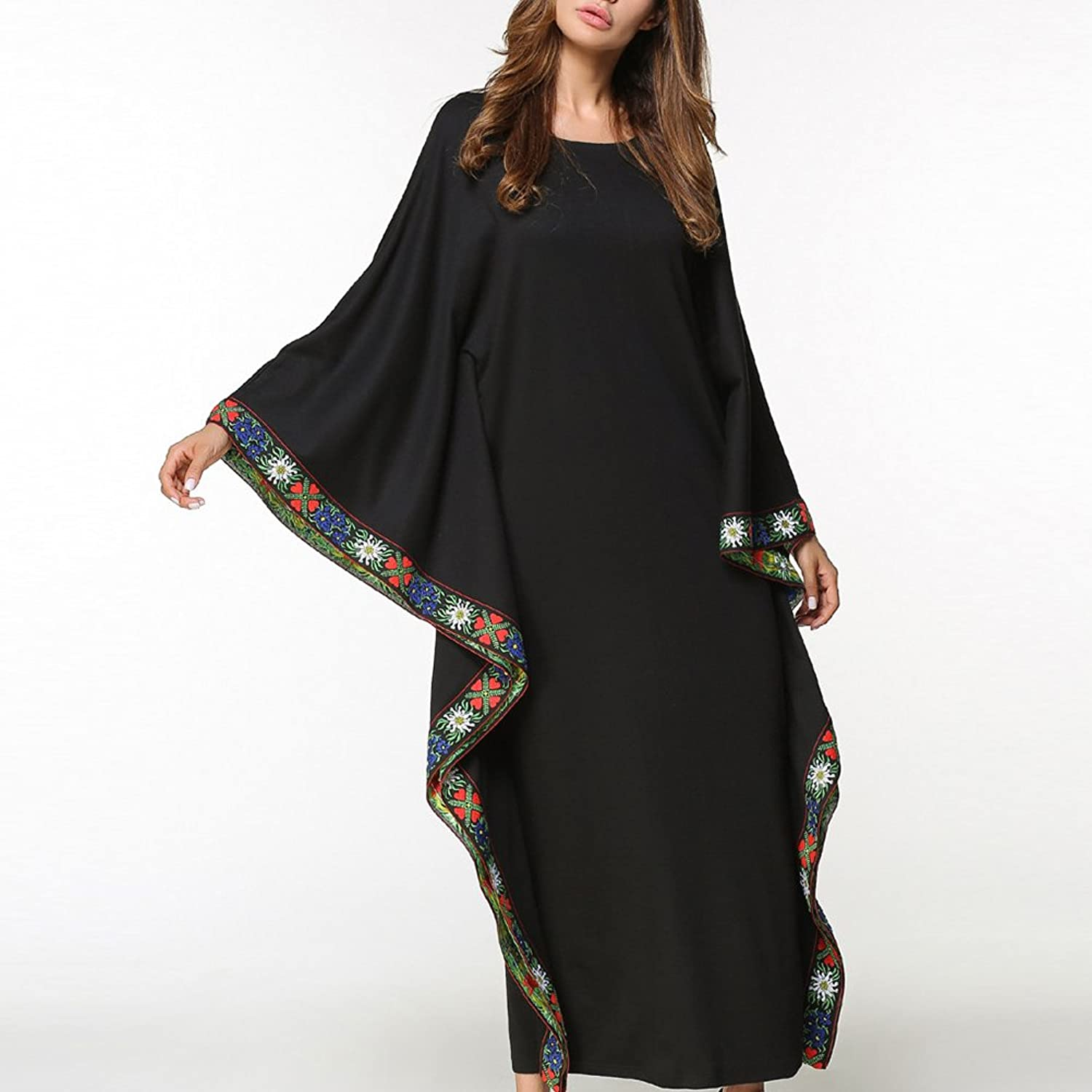 Zhhlinyuan Muslims Women Flowy Gown Maxi Long Dress For Kaftan Malaysia Caftan Abaya at Amazon Womens Clothing store: