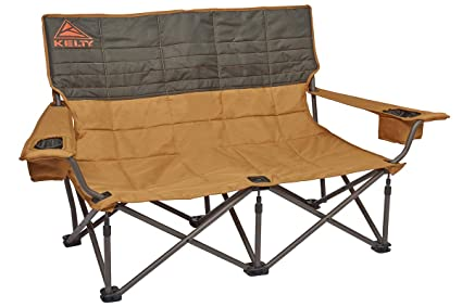 Kelty Low Love Seat Camping Chair, Canyon Brown/Belluga   Portable, Folding