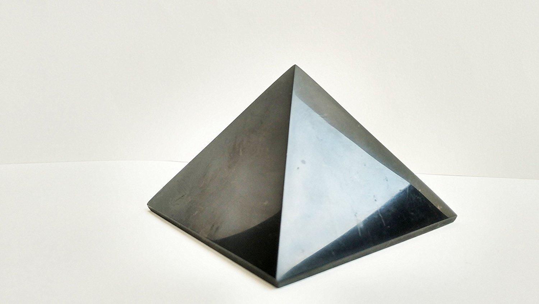 Shungite Pyramid 3 cm (1 2): Guaranteed Authentic Highest